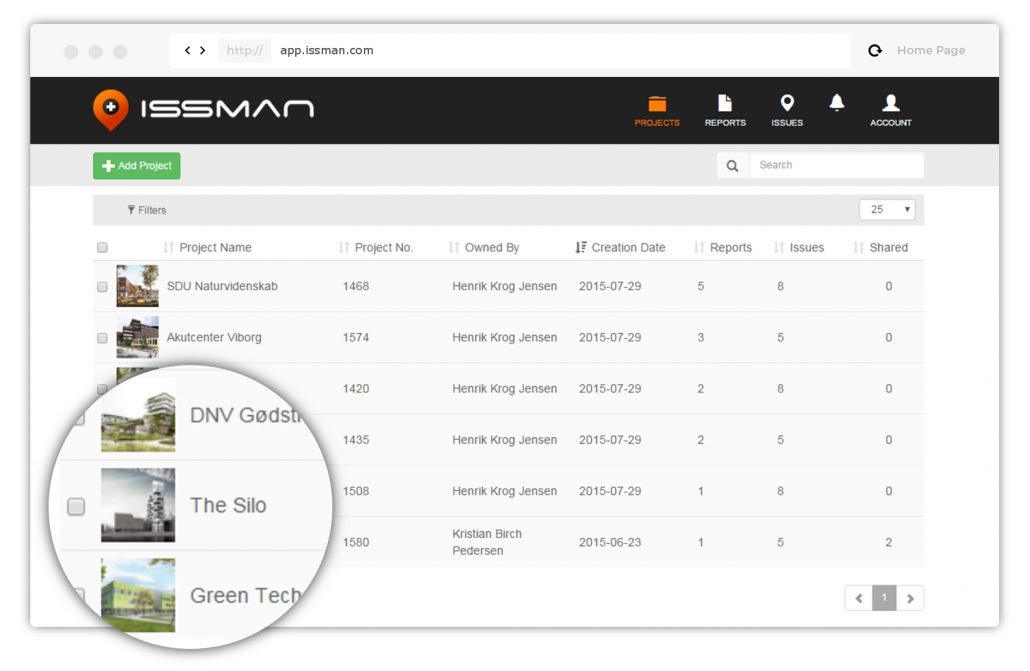 snagging list app and snag list app with photo documentation on IssMan iOS, Android and on Web